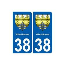 38 Villard-Bonnot blason ville autocollant plaque stickers droits