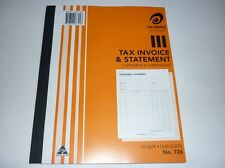 Olympic Tax Invoice & Statement copymate carbonless 50 leaf Duplicate No.726