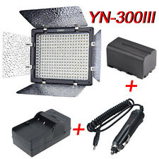 Yongnuo YN-300 III LED Video Studio Light + Battery + Charger for Canon Nikon