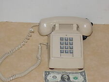 Vintage ITT Push Button Telephone  Color-Tan ( Made in the USA )