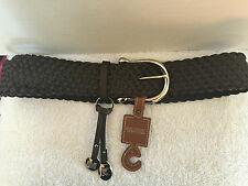 "Women's Michael Kors Braided Leather Belt w/Silver ""MK"" Initial Charms S NWT's"
