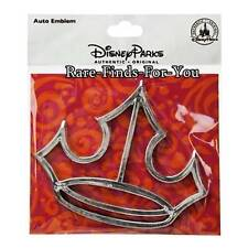 Disney Parks Princess Tiara Crown Icon Car Auto SUV Emblem Sticker Decal (NEW)
