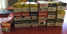 Vintage Lot of 19 Electronic Tubes Sylvania RCA NOS in Orig Boxes ~Estate~!