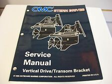 USED OMC STERN DRIVES SERVICE MANUAL VERTICAL DRIVE / TRANSOM BRACKET 507142