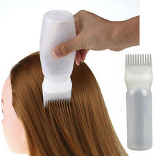 Hot Hair Dye Bottle Applicator Comb Brush Dispensing Salon Hair Coloring Dyeing