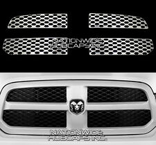 2013-2017 Dodge RAM 1500 CHROME Snap On Grill Overlay Grille Covers Trim Inserts