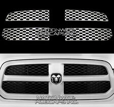 13-15 Dodge RAM 1500 CHROME Snap On Grille Overlay Grill Covers Trim Inserts NEW