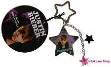 Justin Bieber Keyring - Star Shaped with Charms - (Official) Brand New with Tags