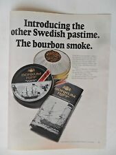1970 Print Ad BORKUM RIFF Pipe Tobacco ~ The Other Swedish Pastime