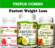 GARCINIA CAMBOGIA + GREEN COFFE BEAN + RASPBERRY KETONE COMBINATION 3 BOTTLES#