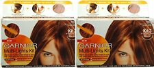 2 GARNIER NUTRISSE MULTI LIGHTS KIT 3 FOR COLOURED OR NATURAL COPPER, RED AUBURN