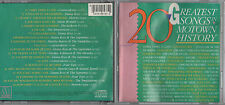 Various Artists, 20 Greatest Songs in Motown History  MCDO6137MD 1985 JAPAN
