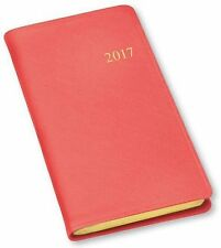 2017 Monthly Pocket Planner Agenda Organizer Calendar by Gallery Leather Salmon