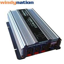VertaMax 1500 Watt Pure Sine Wave Power Inverter DC to AC Car, RV w/ LCD Display