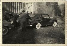 PHOTO ANCIENNE - VINTAGE SNAPSHOT - VOITURE AUTOMOBILE PEUGEOT COFFRE - CAR