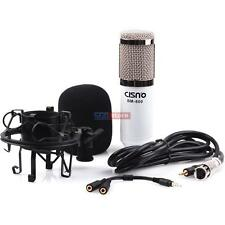 Cisno Pro Audio Condenser Microphone Mic Recording w/Splitter For iPhone 6 5S 5