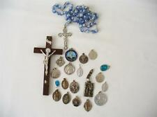 Vintage Religious Wooden Cross - Rosary & 19 Chritian Religious Items