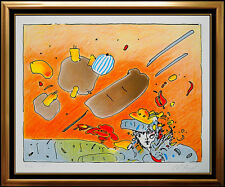 Peter Max Vintage Color Silkscreen Hand Signed Pop Artwork Cosmic Daydreaming