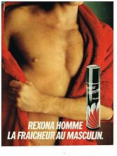 PUBLICITE ADVERTISING 054  1982  REXONA  déodorant homme