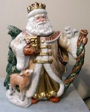 Fitz Floyd Omnibus King Wenceslas Santa Claus Squirrel Deer Pitcher Teapot 1995