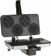 Pizzelle Maker Iron Baker Italian Cookies / Waffle Non-stick Grids NEW
