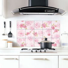 Aluminum Foil Pink Tiles Self Adhesive Wallpaper for Kitchen Backsplash Cabinets