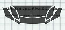 Jaguar F-Type Front End Section Clear stone guard Protection shield Film set.