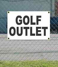 2x3 GOLF OUTLET Black & White Banner Sign NEW Discount Size & Price FREE SHIP