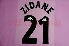 Zidane #21 1997-1998 Juventus Awaykit Nameset Printing