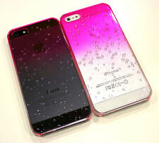 RainDrop Pink Trasnparent Slim Air Jacket Case Faceplate Cover for iPhone 5 5S