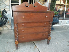 American Empire Acanthus Carved Walnut and Cherry Chest 19th century