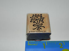 Stampin Up Single Stamp - Cute Flower Bouquet with Bow Ribbon