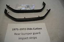 1971-72 Olds Cutlass rear bumper impact guard strips