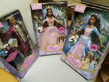 3 DOLLS Anneliese Erika & Dominick Singing Princess and Pauper AA NEW BARBIES