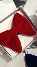 Mens FERUCCI Oversized Bow Tie - Red Velvet Bowtie, Mens big bow tie