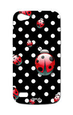 COVER CASE PROTETTIVA POIS RED LADYBUG PER WIKO LENNY