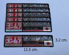 5x Yoshimura Japan Cyclone Exhaust System  Decal Sticker Red