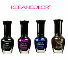 4 PCS New Kleancolor GLITTER COLLECTION Nail Polish WITH BLACK K2