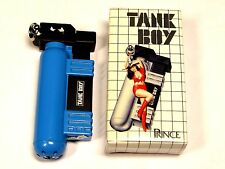 Vintage 80's Prince Tank Boy Gas Lighter Japan BLUE FREE S&H