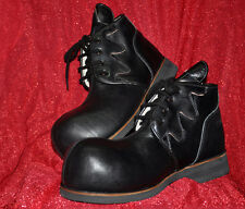 ZYKO Professional Real Leather Clown Shoes Flame All Black model (ZH023)