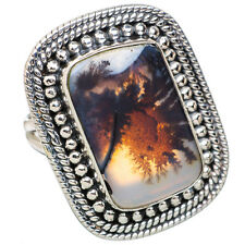 Scenic Dendritic Agate 925 Sterling Silver Ring Size 7 Ana Co Jewelry R813163