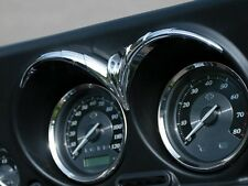 Kuryakyn 7746 Chrome Speedo & Tach Brow for 1996-2013 Harley Touring