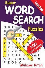 Super Word Search Puzzles by Muhawe Ritah (2014, Paperback, Large Type)