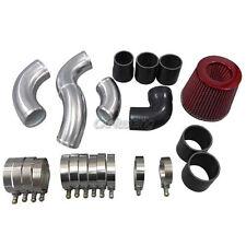 CXRacing Intercooler Hard Pipe Kit + Filter For 05-08 Audi A4 (B7) 2.0T Black