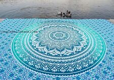 Indian Ombre Mandala Beach Throw Tapestry Bohemian Wall Hanging Bedspread decor