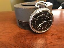 1941 Hamilton GCT 22j WWII 4992B Military Navy Army Pocket Watch Air Mans Case