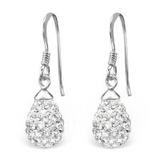 Sterling Silver Austrian Crystal Drop Earrings - Gift Boxed