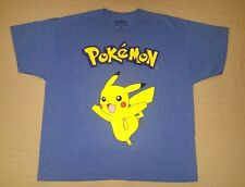 Pokemon Pikachu Character Adult Men's Blue Short Sleeve Tee Shirt Plus Size 3X