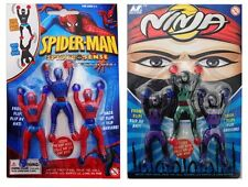 Spiderman and Ninja Wall Stickies Sliding & Climbing Childrens Toy Set of 2