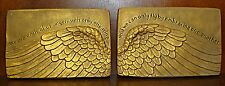 ANGEL WINGS HOME WALL DECOR SCULPTURE PAIR ART CARVING
